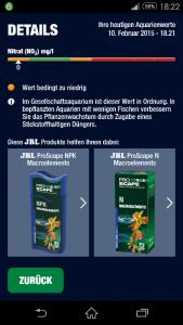 JBL Pro Scan Ergebnis NO3 Hinweis